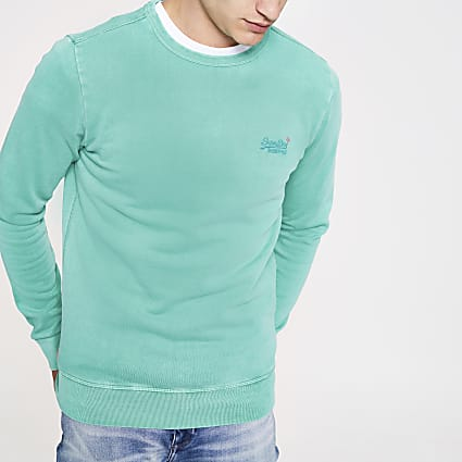 Superdry green sweatshirt
