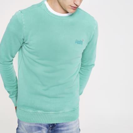 Superdry green sweatshirt
