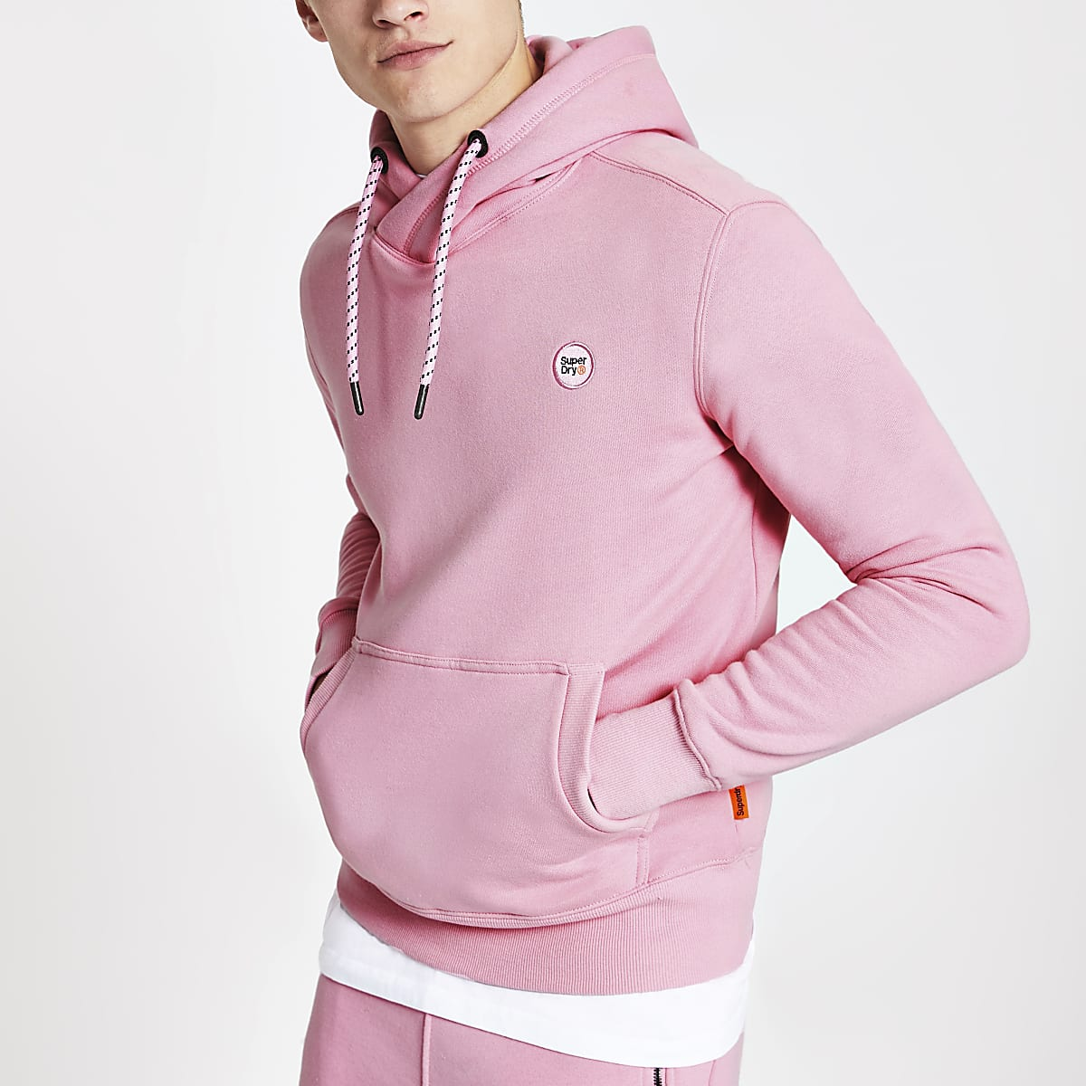 Superdry Collective pink hoodie