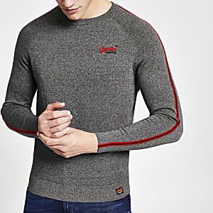 Superdry – Graues Sweatshirt