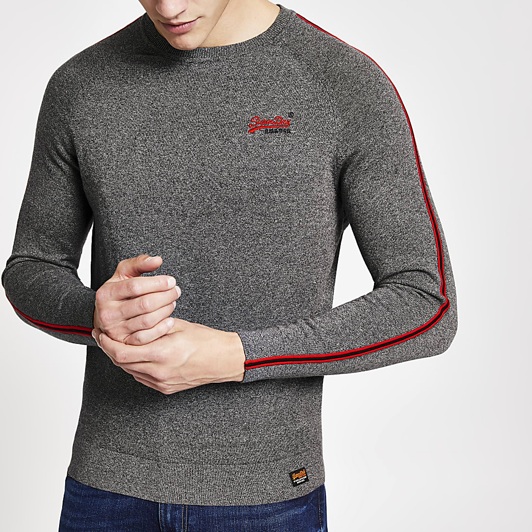 Superdry grey tape sweatshirt
