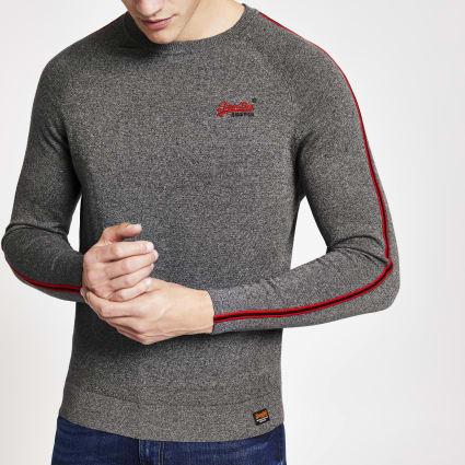 Superdry grey tape sweatshirt