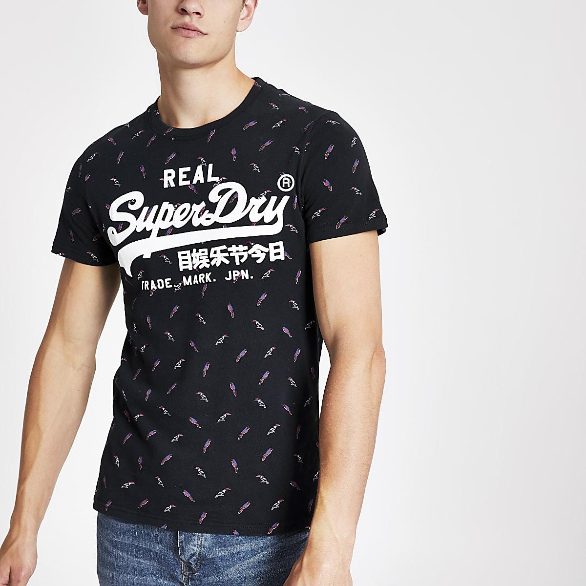 95c69fdf Superdry navy vintage logo T-shirt - T-shirts - T-Shirts & Vests - men
