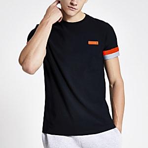 Superdry International T-shirt in zwart