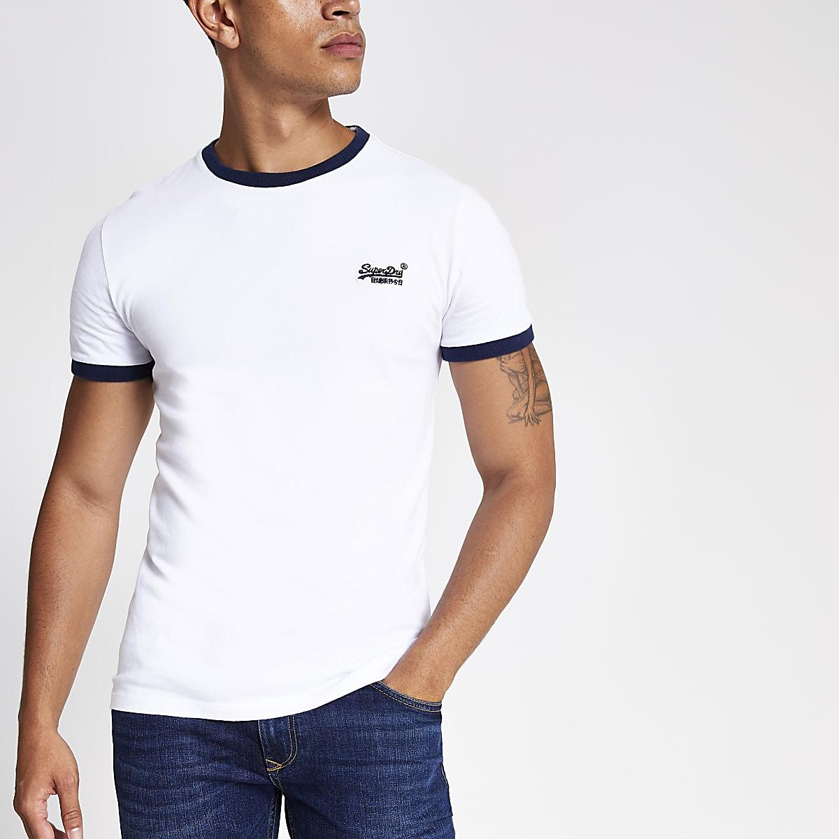 Superdry white Cali ringer T-shirt