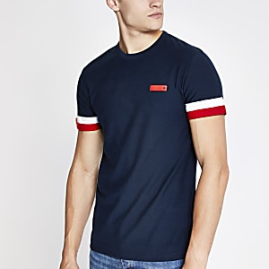 Superdry – International – T-shirt bleu marine
