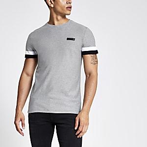 Superdry International T-shirt in grijs