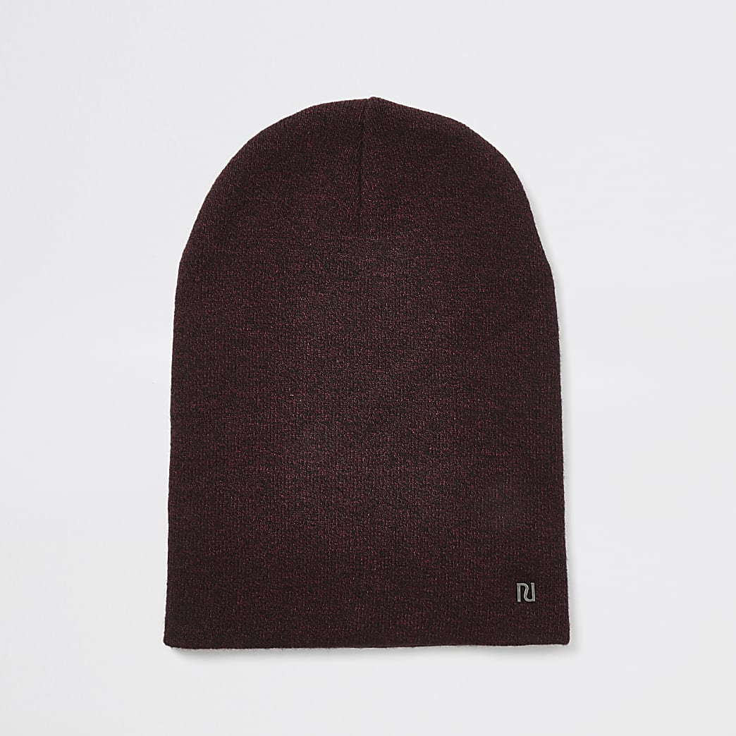 Bonnet large RI bordeaux