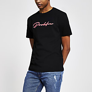 "Schwarzes Slim Fit T-Shirt ""Prolific"""