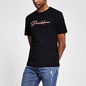 T-shirt slim noir à broderie Prolific