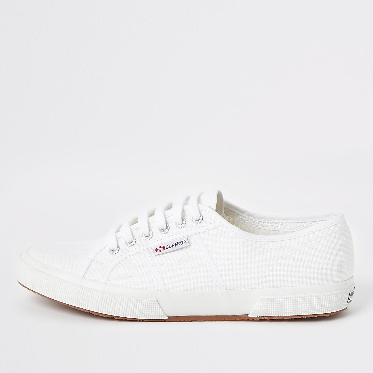 Superga white classic runner sneakers
