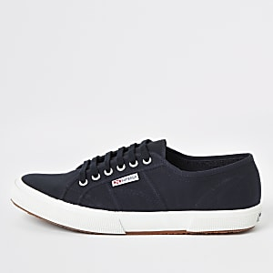 Superga navy classic runner sneakers