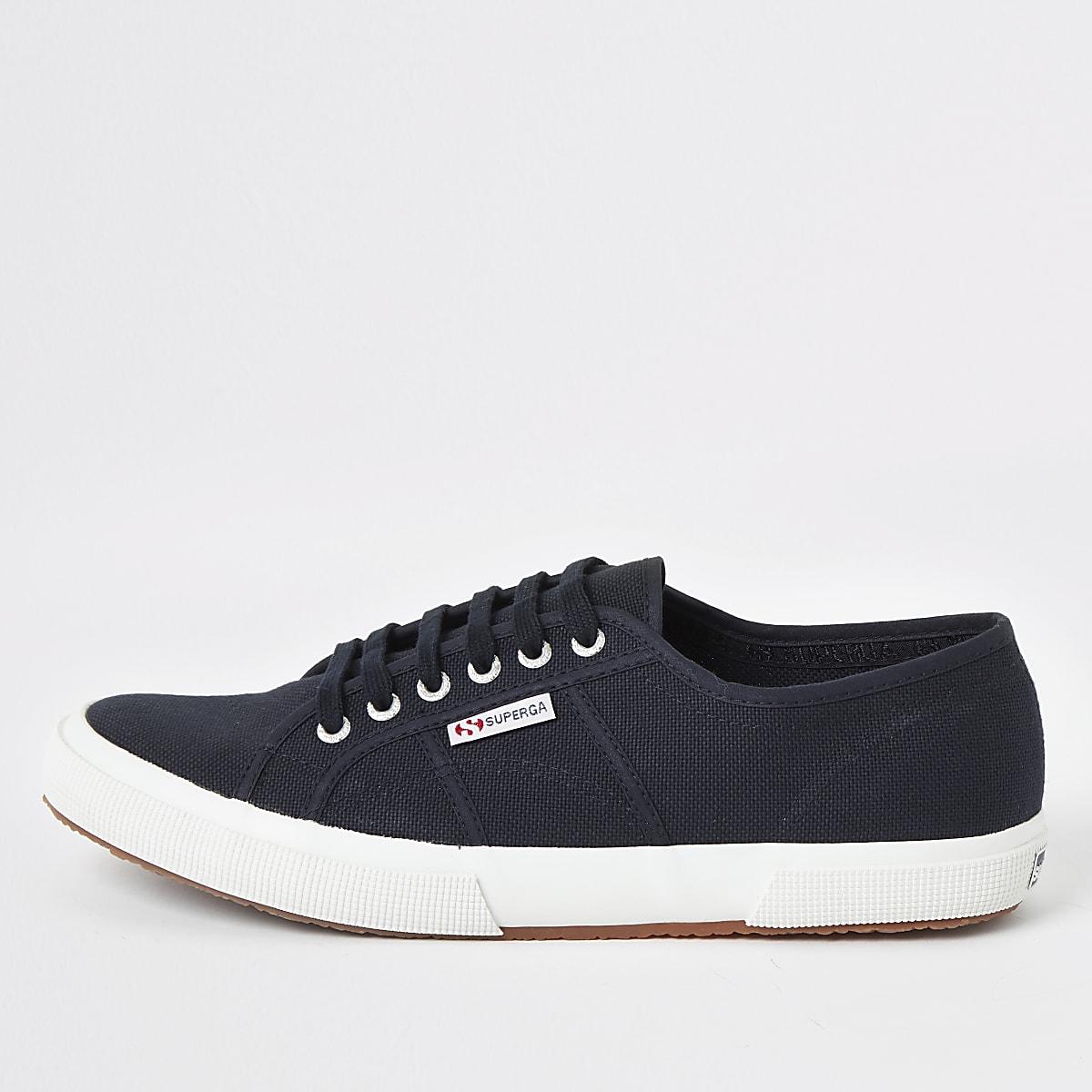Superga navy classic runner sneakers