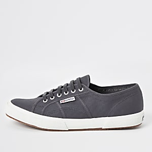 Superga dark grey classic runner sneakers