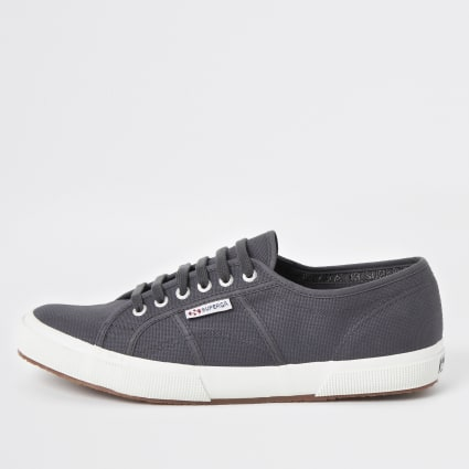 Superga dark grey classic runner trainers