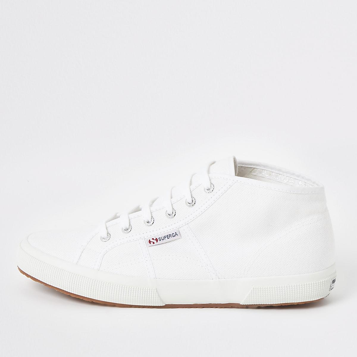 Superga - Witte midtop klassieke sneakers