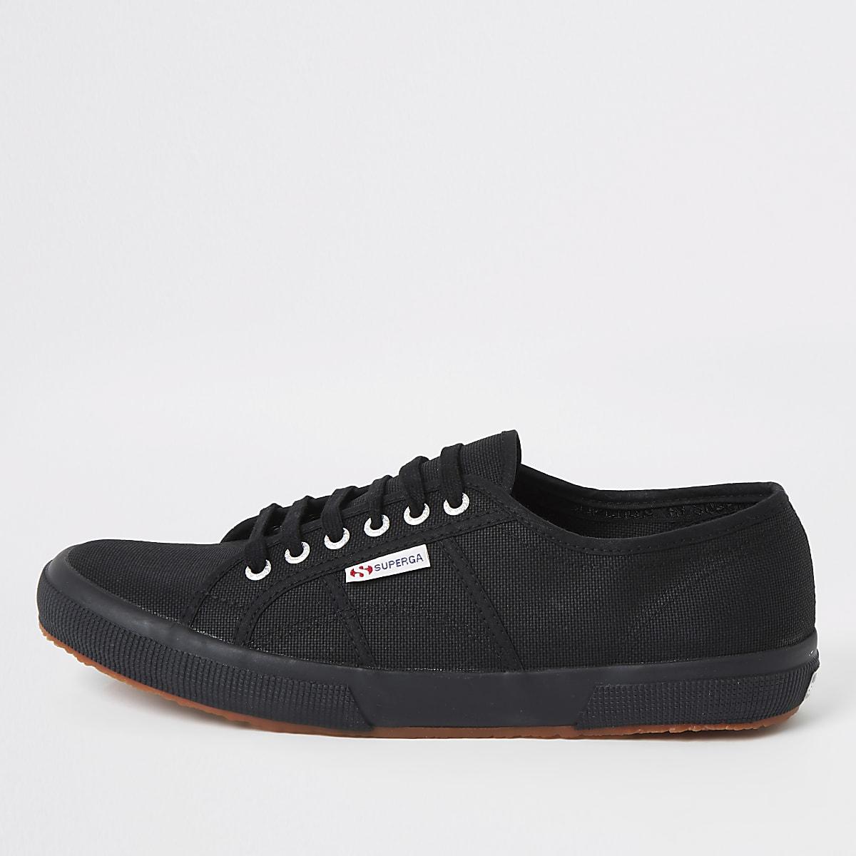 Superga black classic gum sole runner sneaker