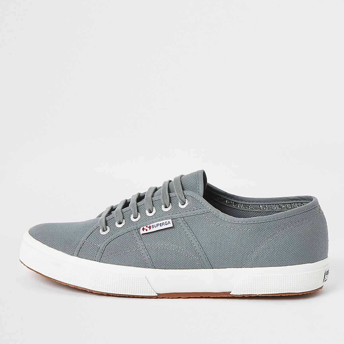 Superga dark green classic runner trainers