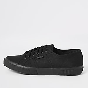 Superga black classic runner sneakers