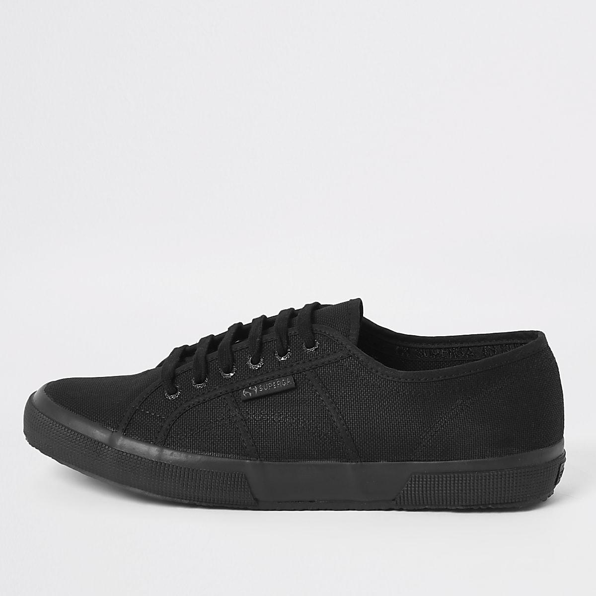 Superga black classic runner sneakers