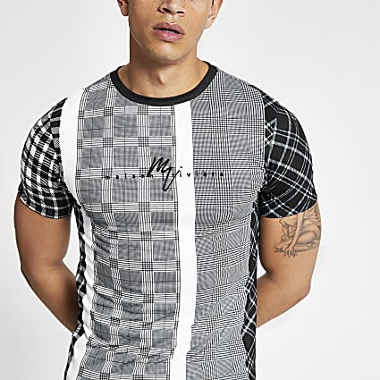Black Maison Riviera muscle fit T-shirt