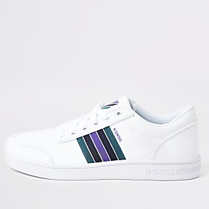 K-Swiss white Court Clarkson sneakers