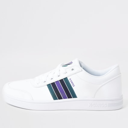 K-Swiss white Court Clarkson trainers