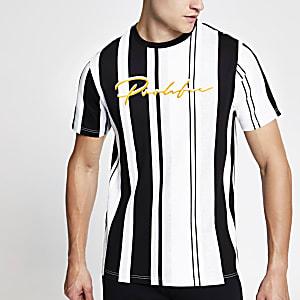 Black 'Prolific' stripe slim fit T-shirt