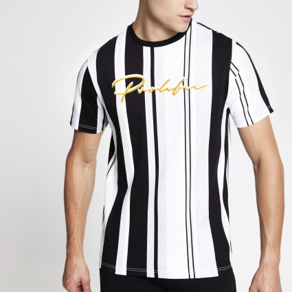 Black Prolific stripe slim fit T-shirt