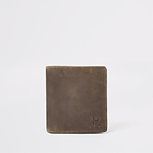 Light brown leather wasp wallet
