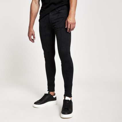 Black snake print Ollie spray on jeans