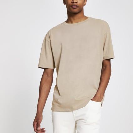 Stone oversized short sleeve T-shirt