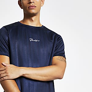 Navy Prolific slim fit football T-shirt