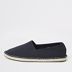 Marineblauwe slip-on espadrillegympen
