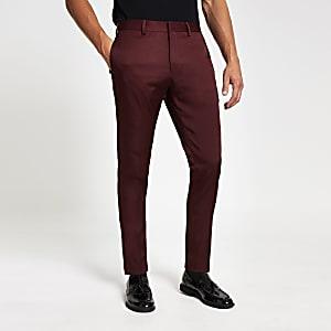 Rode skinny-fit pantalon