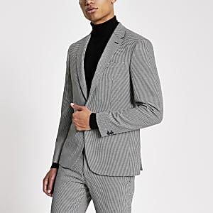 Schwarze Skinny Anzugjacke