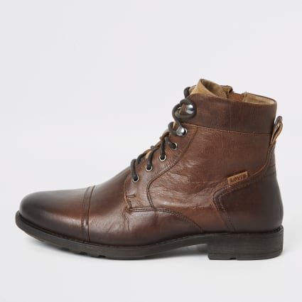 Levi's brown Reddinger lace-up ankle boots