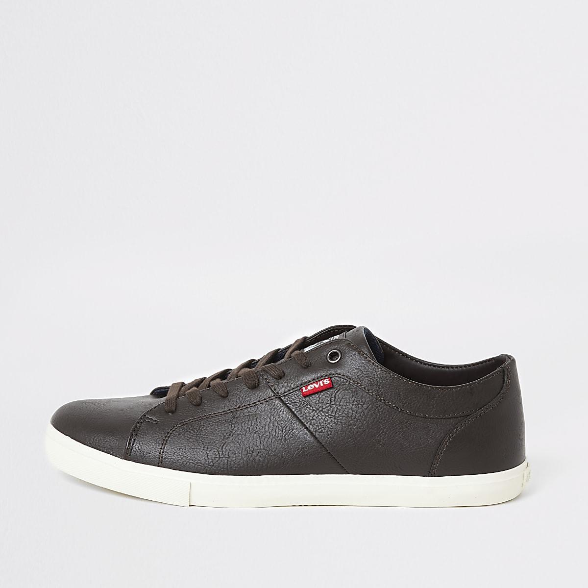 Levi's - Woods - Donkerbruine sneakers
