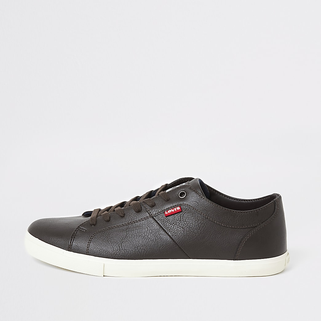 Levi's - Woods - Donkerbruine sneakers