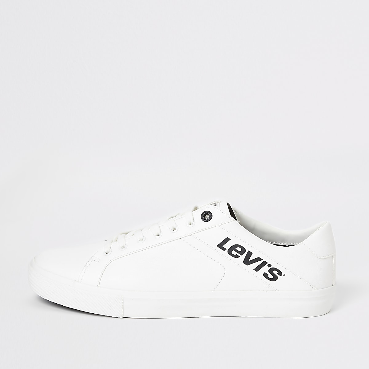 Levi's white Woodward trainers