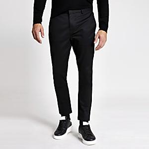 Zwarte nette skinny-fitchino broek