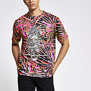 Jaded London - Roze tie-dye T-shirt