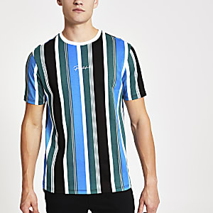 Prolific – T-shirt slim vert à rayures