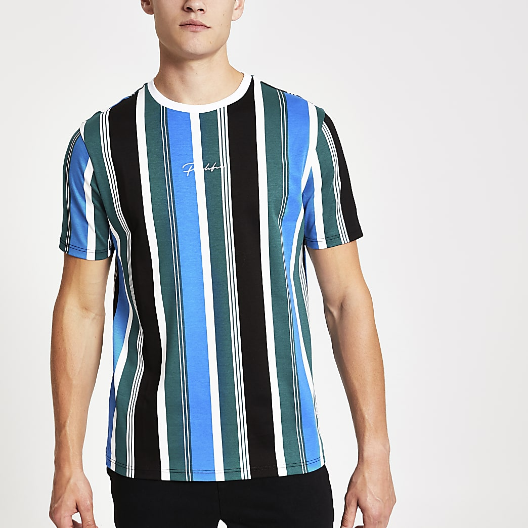 Green Prolific slim fit stripe T-shirt
