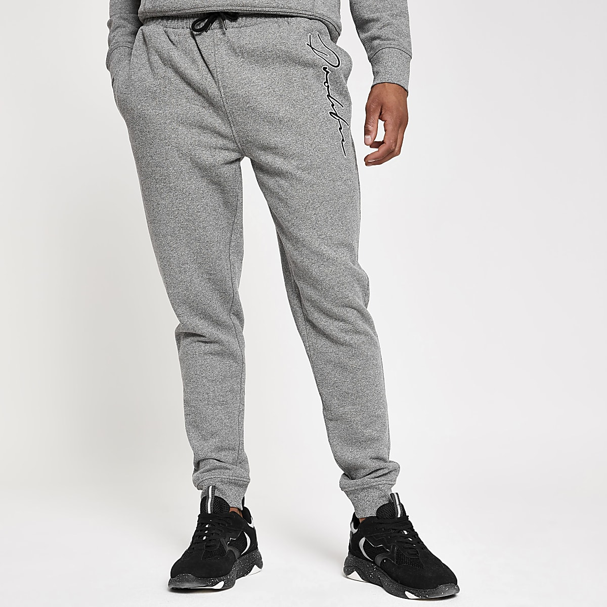 Light grey 'Prolific' slim fit joggers