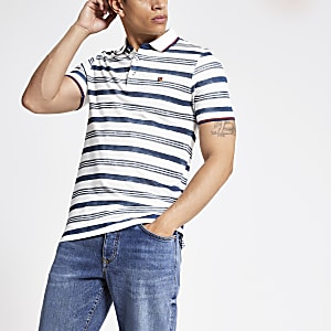 Jack and Jones - Blauw gestreept poloshirt