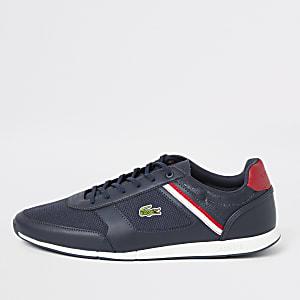 Lacoste – Menerva – Marineblaue Sneaker zum Schnüren
