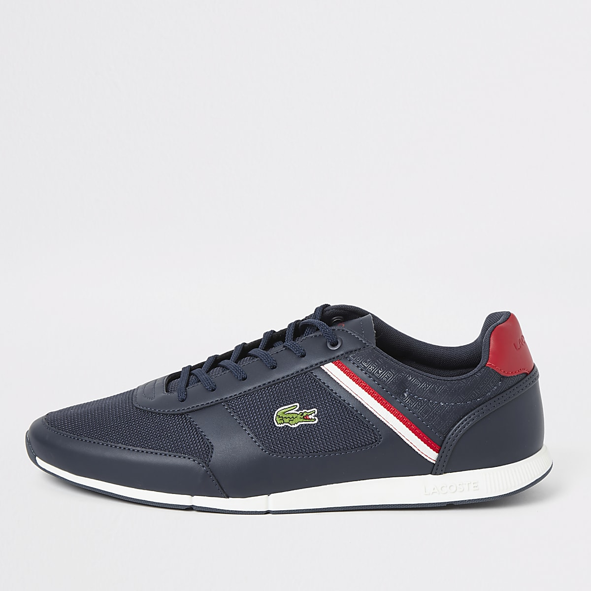 Lacoste - Menerva - Marineblauwe vetersneakers