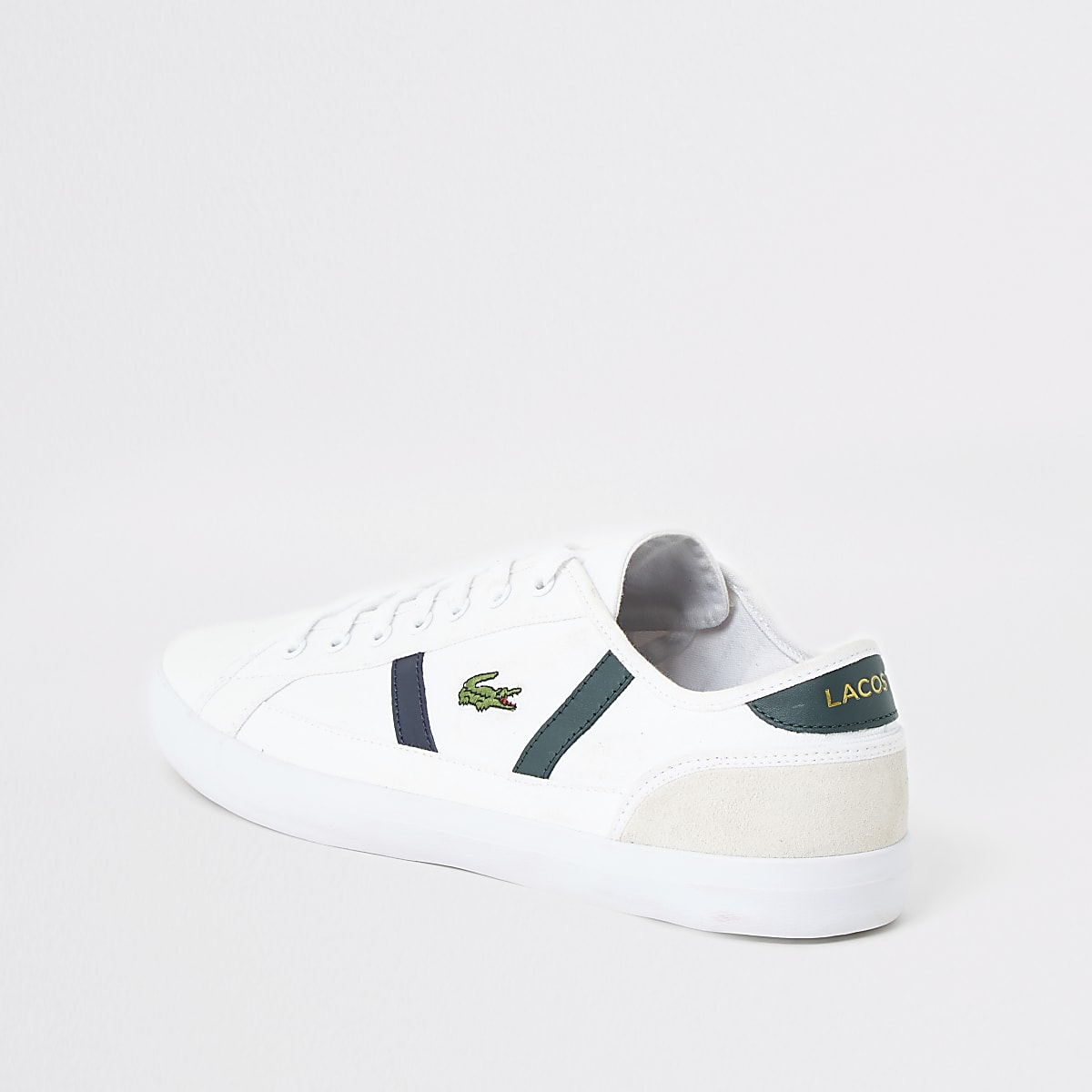 c0a7b905ca Lacoste white Sideline canvas trainers