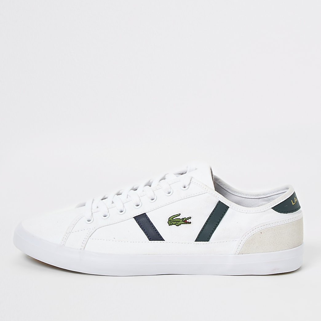 Lacoste white Sideline canvas trainers